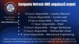 Compania AMS Refresh LTD căuta electricieni, lacatusi mecanici, fitters, fitters mate, necalificati
